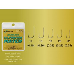 Drennan kabliukai Barbless Silverfish Match