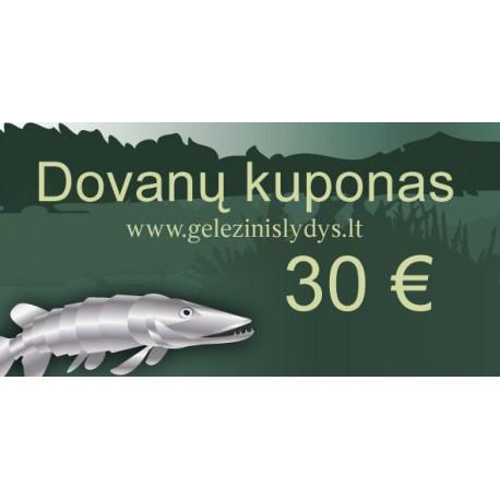 Dovanų kuponas 30 €