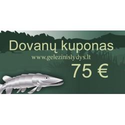75 eurų vertės dovanų kuponas