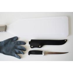 Filetavimo rinkinys (lenta, peilis, pirštinė)