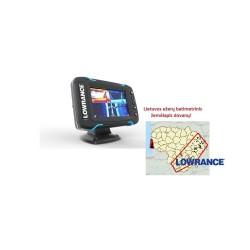 Echolotas su GPS Lowrance Elite-5 Ti Mid/High/TotalScan
