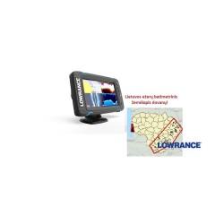 Echolotas su GPS Lowrance Elite-7 Ti Mid/High/DownScan