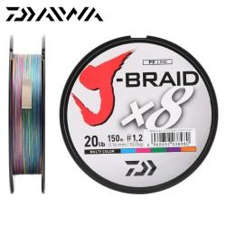 Pintas Valas Daiwa J-Braid X8 Multicolor