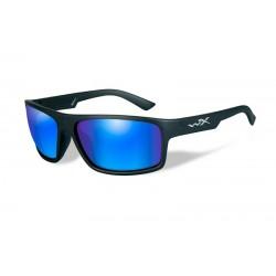 Akiniai Wiley X PEAK Polarized Blue Mirror Matte Black Frame