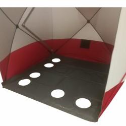 Pašiltintos palapinės grindys PVC 195x195